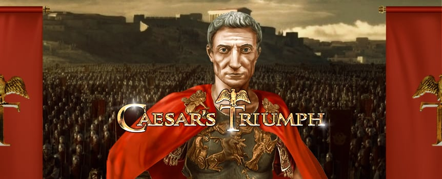Some say Julius Caesar was the most capable military strategist who ever ruled Rome, and his many victories in the battlefield speak for themselves. In this 5 reel and 20 payline slot, you will have the chance of becoming one of his Generals, and keep harvesting riches for the arcs of the Senate (and for your own pocket).