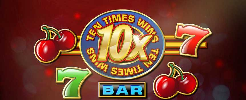 How to play Ten Times Wins Slot GameGet a taste of vintage Las Vegas in 10X Wins, a traditional 3-reel, 3-line slot that doesnt hold back when it comes to fast-paced action. This sequel to 5X Wins gives players more of what made the original so exciting, including a wild multiplier that is now worth double. The 10X Wins logo switches in for all symbols to complete combinations and multiply your winnings by 10X, and thats just the beginning. Land three wilds in a row and hit the SC50,000 jackpot in this slot that is sure to become a timeless classic.