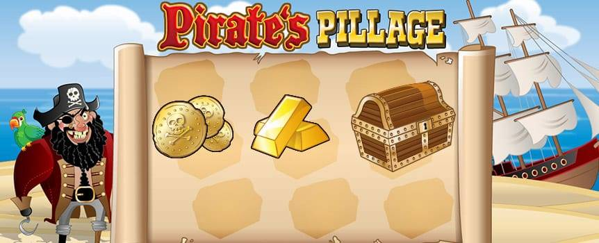 Ahoy there, matey, let's set sail for the seven seas. There's plenty of booty and riches just waiting to be pillaged! Oh yes, all you landlubbers, there's treasures aplenty in Pirate's Pillage, a scratch-and-win game that'll have you scouring the bottom of Davey Jones' locker! Arr, you'll be trying your luck and scratching to win all the plunder the high seas have to offer - with symbols including Rum Bottles, Spy Glasses, Compasses, Coins, Chalices, and Golden Bars. So, raise your sails, check the rigging and say, 'aye aye, captain' as you launch into an epic adventure with Pirate's Pillage.