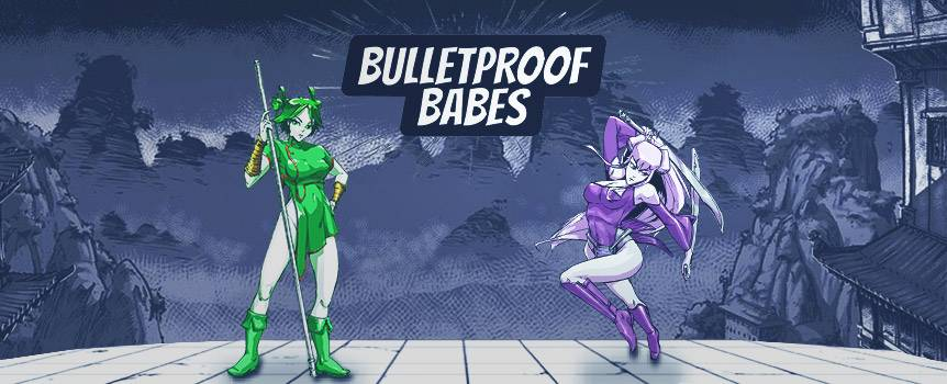 Join the beautiful Bulletproof Babes as they try to score you big wins while the awesome forces of nature collide in this Manga-style 5-reel, 20 line video slot game. With this new release, youll get front seats to the action as the elements unleash their might right before your eyes. Each of the gorgeous bulletproof babes commanding one of the five elementsyouve got wood, water, fire, earth and metal, so whats it going to be? Remember to keep an eye out for the Full Moon and Temple symbols because when these join up youll be able to pick a bulletproof babe to fight for you, not to mention reward you free spins if youre lucky.
