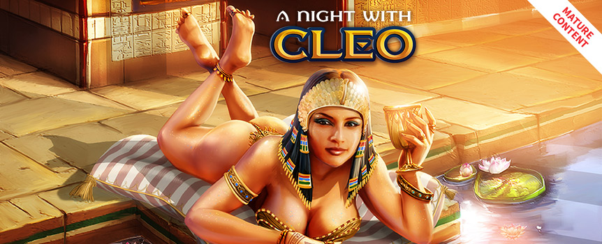 In this 5-reel and 20-line video slot, the protagonist, Cleopatra, invites you to spend the night with her and undress more than just hidden secrets!Choose well, and every time she takes off a garment, you'll be doubling your winnings. With a little bit of luck, you'll earn enough to see her completely naked!Be captivated by the seductive themes of A Night With Cleo, and enjoy amazing sound effects and truly captivating animations.
